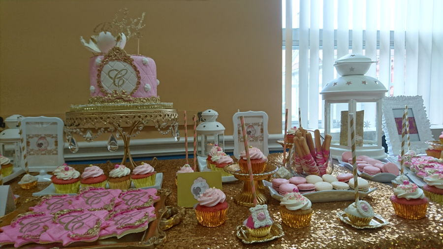 Elegant And Royal Sweet Table Pink White & Gold on Cake Central