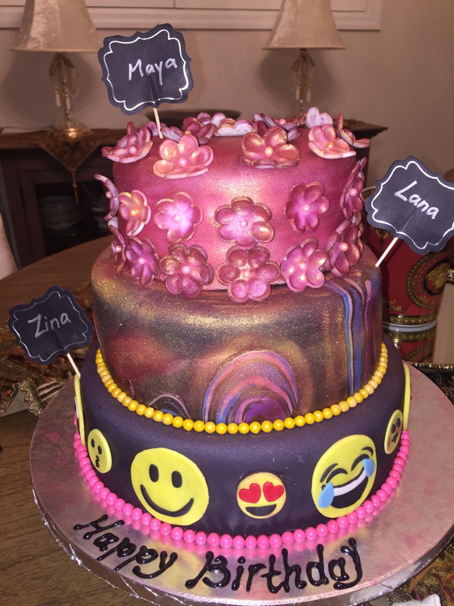 Emoji Galaxy Cake Cakecentral Com