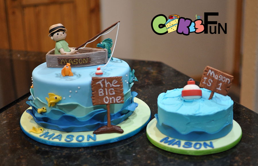Fishing For First Birthday Cakecentral Com