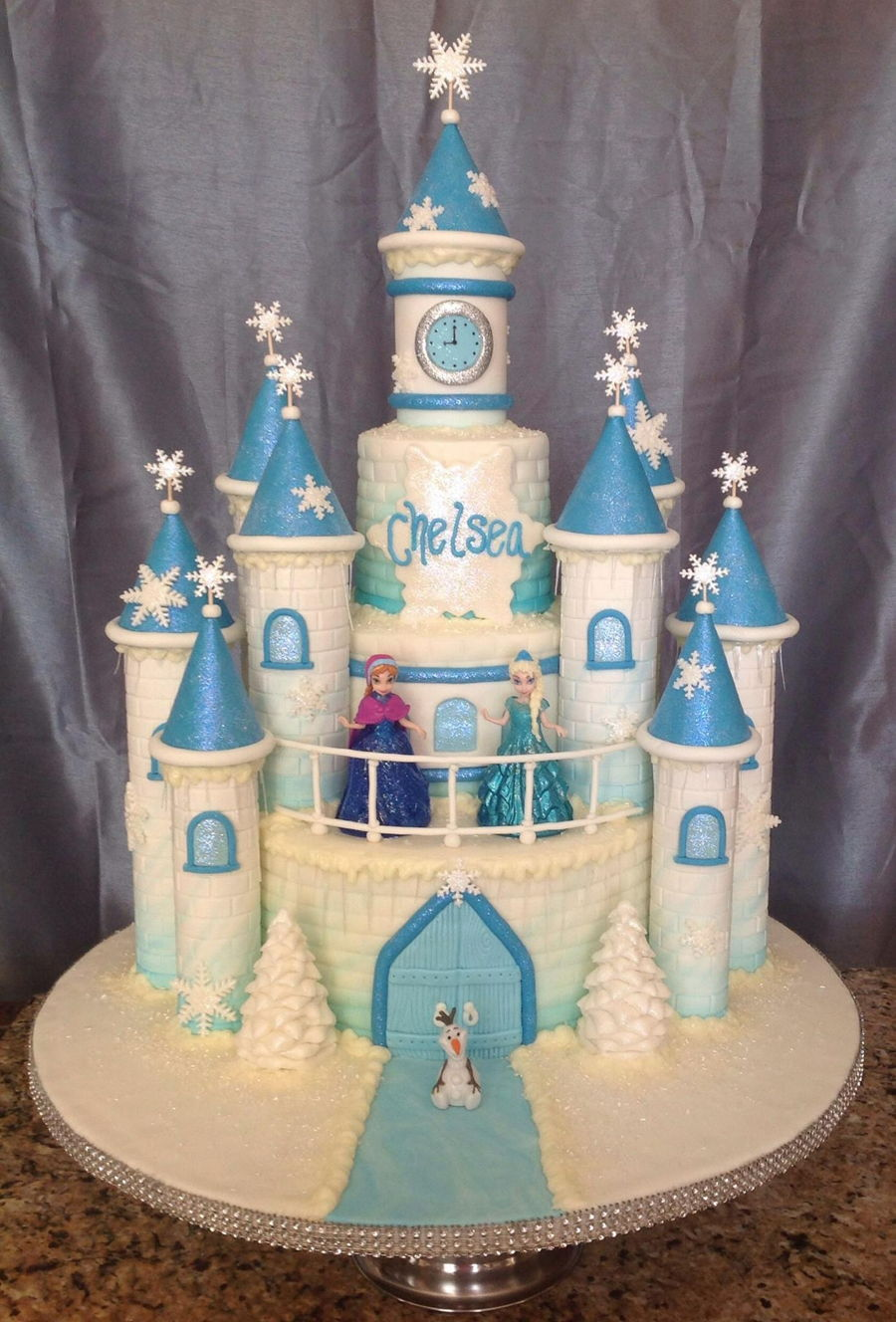 Frozen Movie Castle Cake