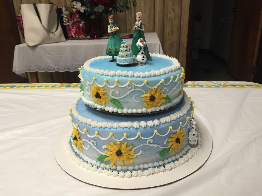 Frozen Fever Birthday Cake In Buttercream Cakecentral Com