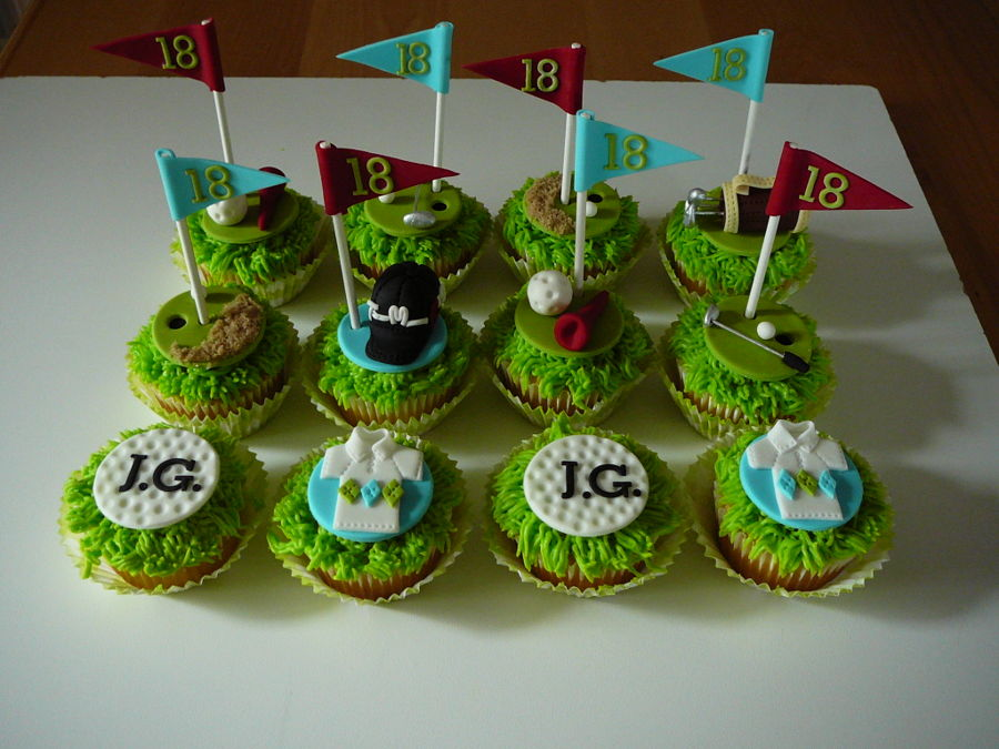 how to make golf cupcakes