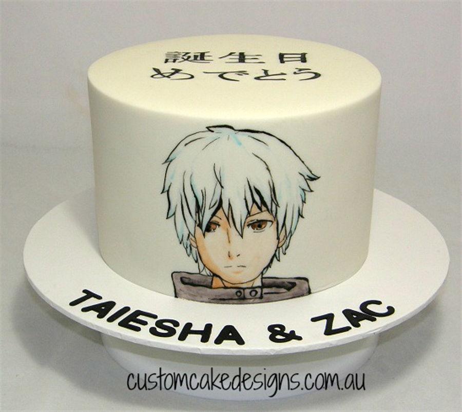 Handpainted Anime Manga Art Cake