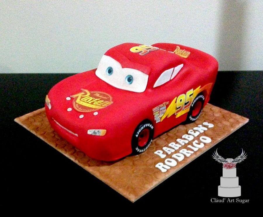 Stupendous Lightning Mcqueen Cakecentral Com Personalised Birthday Cards Beptaeletsinfo