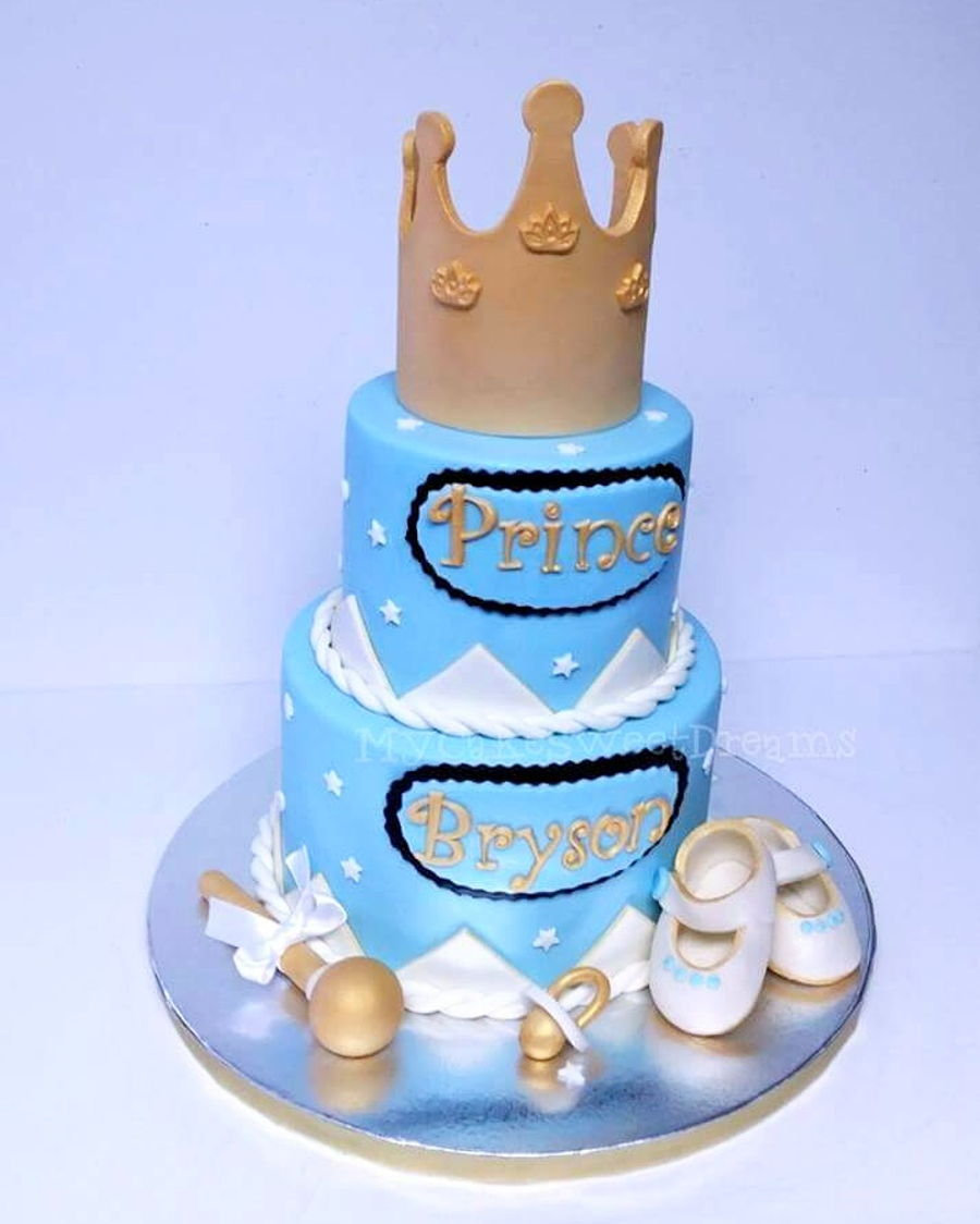Little Prince Baby Shower Cake On Cake Central