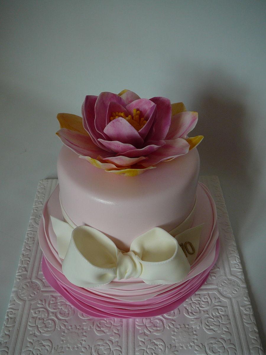 Lotus flower zen cakecentral izmirmasajfo
