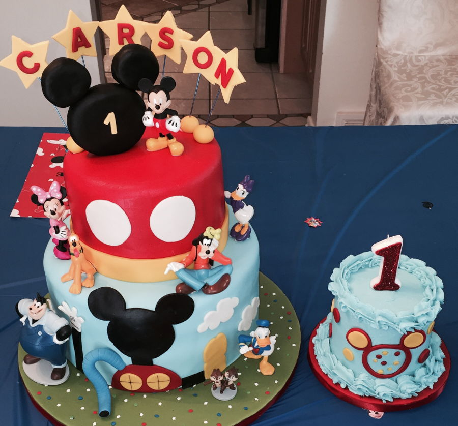 mickey mouse smash cake mickey mouse cake amp smash cake cakecentral 5888