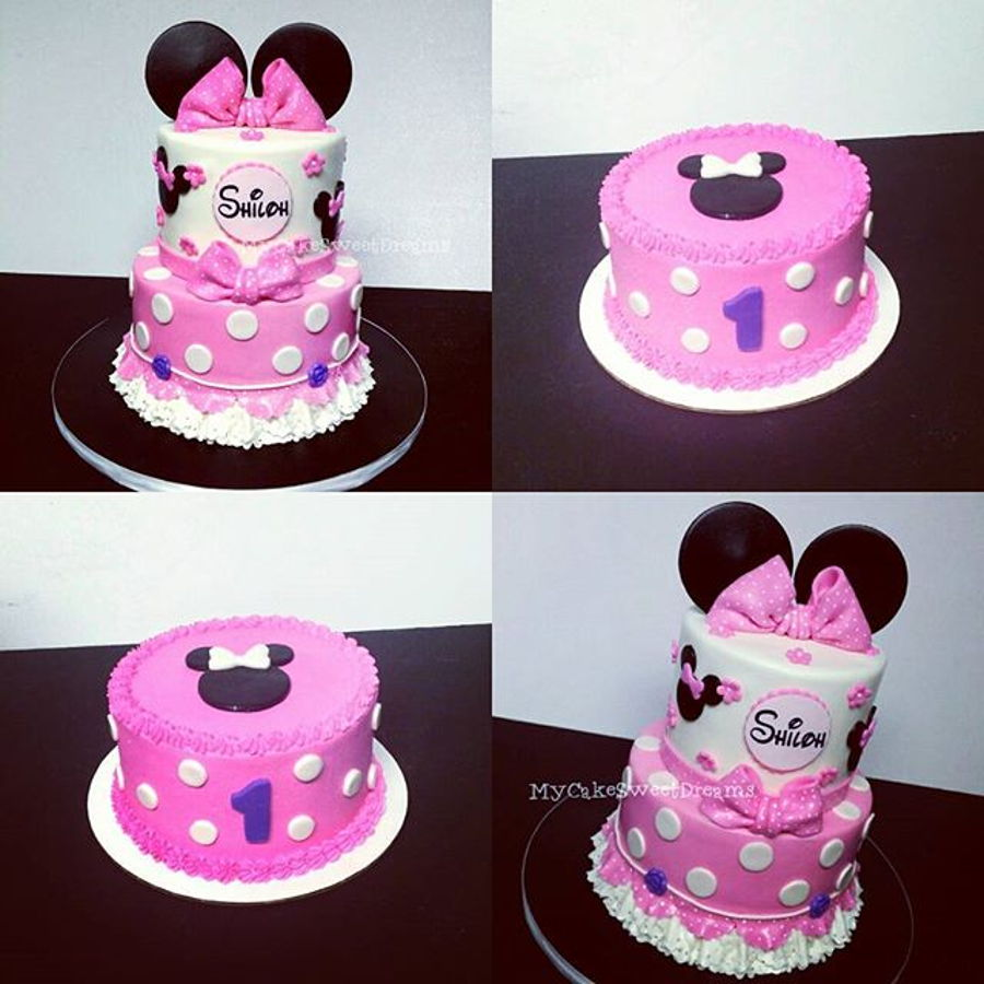 Luxury Minnie Mouse 1st Birthday Cakeadorable Minnie Mouse Birthday