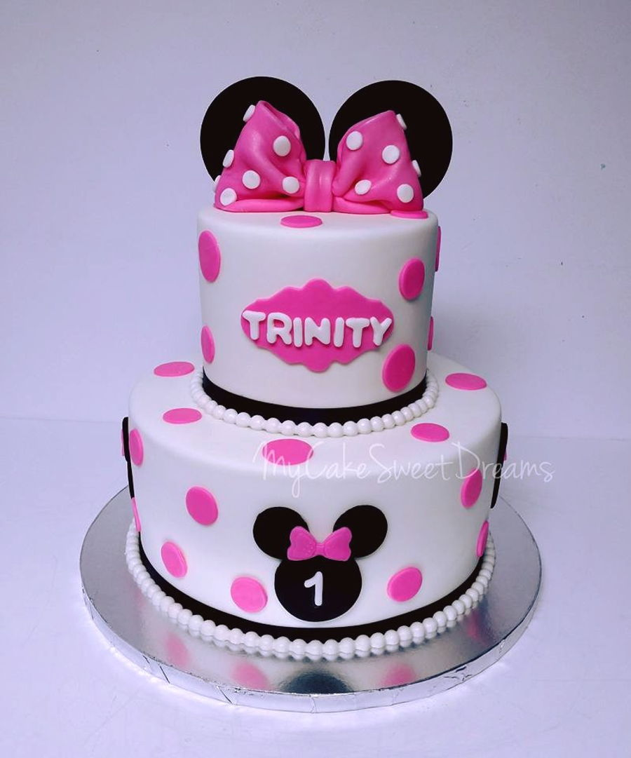 Minnie Mouse 1St Birthday Cake CakeCentralcom