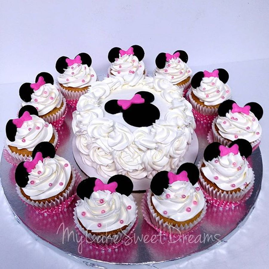 Minnie Mouse 1st Birthday Smash Cake Cupcakes Cakecentral