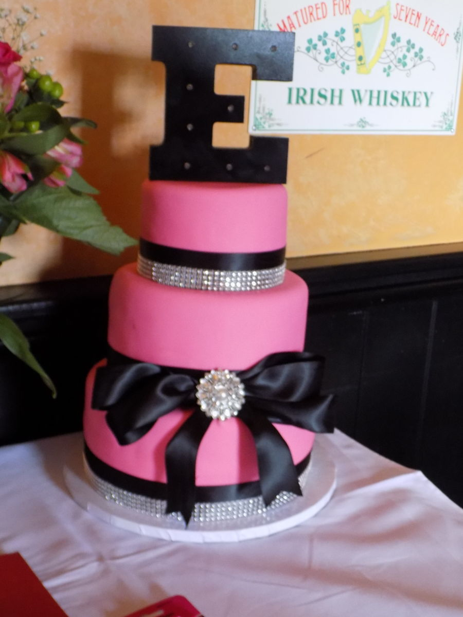 Pink And Bling 40th Cakecentral Com