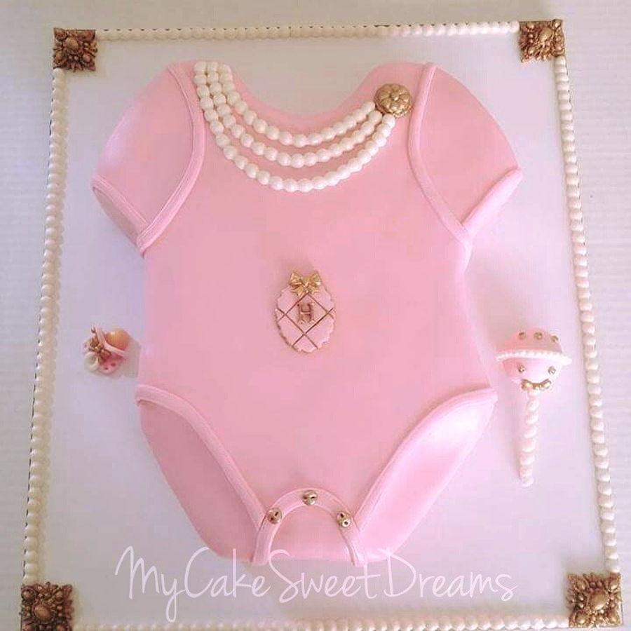 Pink Onesie Baby Shower Cake