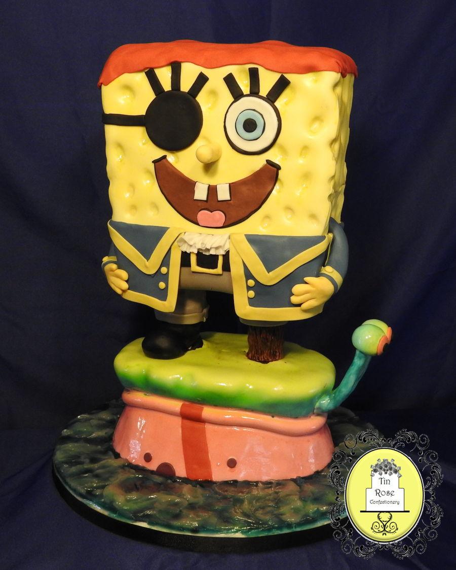 Pirate Spongebob Birthday Cake - CakeCentral.com