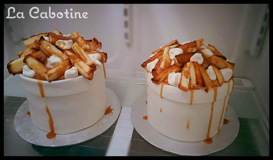 Poutine Cake on Cake Central