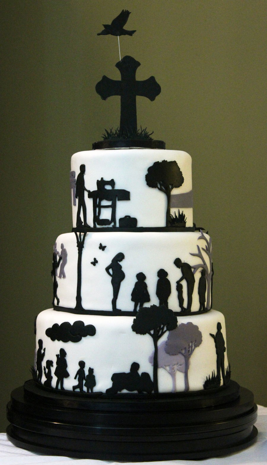 Remembrance Silhouette Cake Cakecentral Com