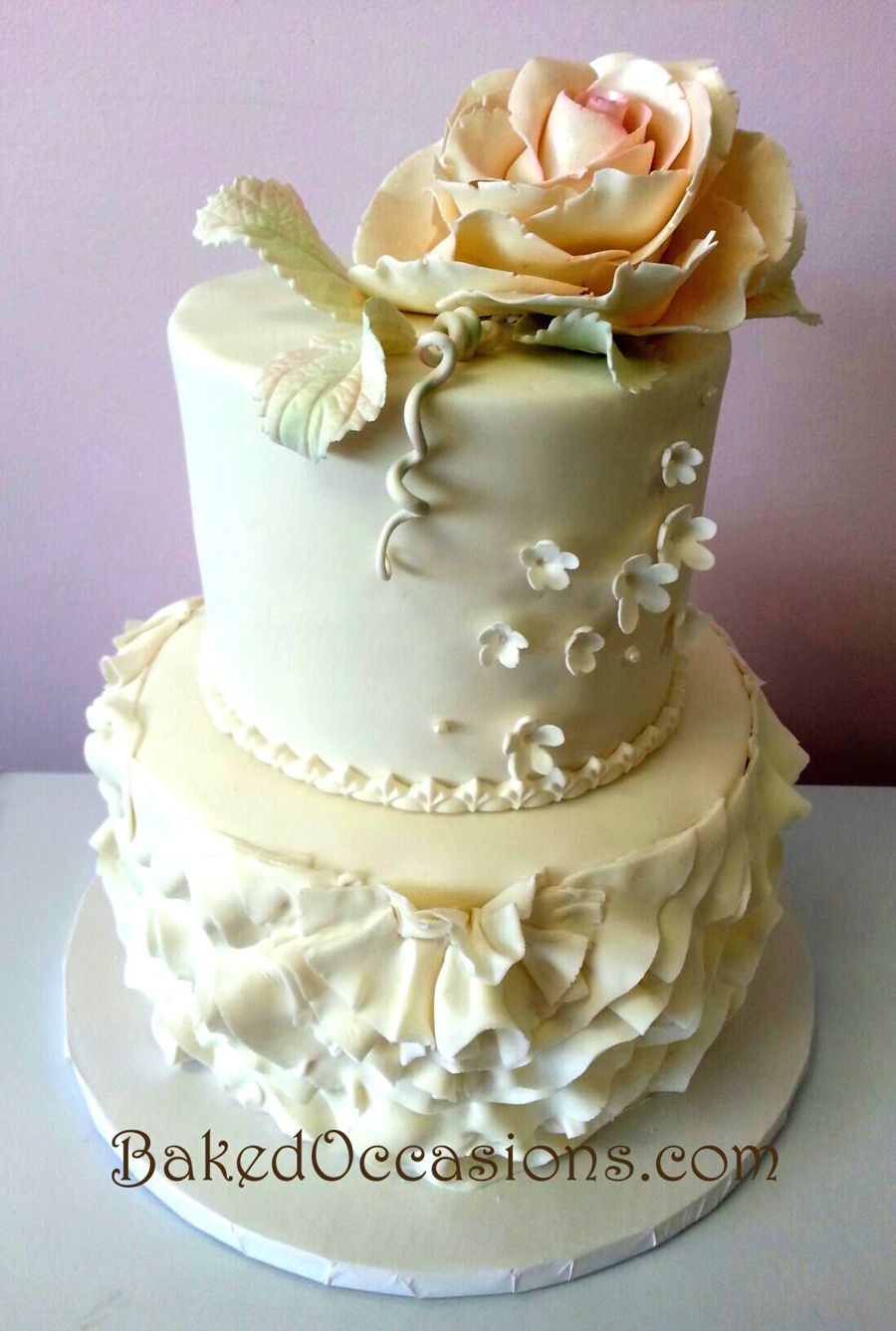 Rose And Ruffles on Cake Central