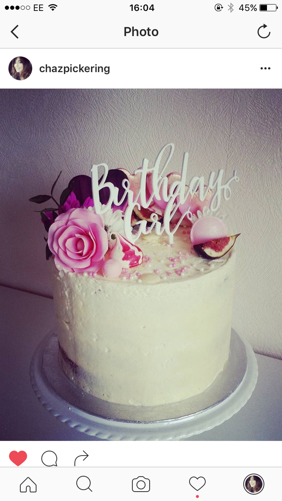 Super Girly Birthday Cake CakeCentralcom