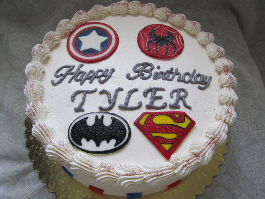 Superhero Logo Cake on Cake Central