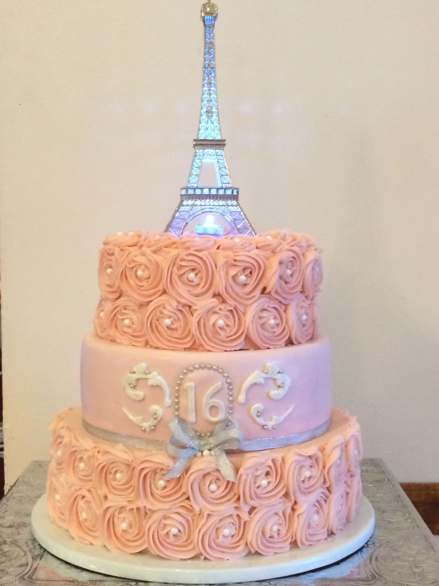 Sweet 16 Eiffel Tower Cakecentral Com