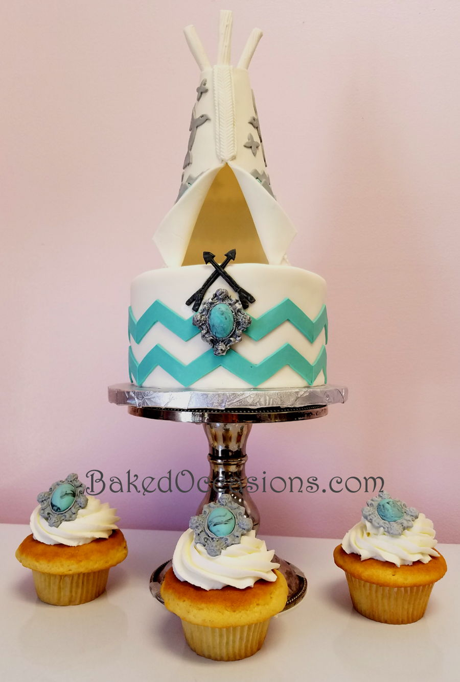 Teepee Cake And Cupcakes on Cake Central