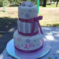 2Nd Birthday Pastel purple and pink. Vanilla bean cake.