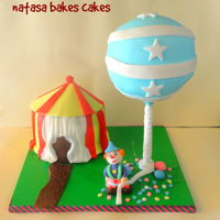 Anti Gravity Circus Cake This is the cake i made for my birthday! Both circus tent and the ballon is a cake! It was the first time, i have tried such a thing! I...