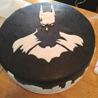 Batman Cake Batman that I did for my nieces 16th birthday