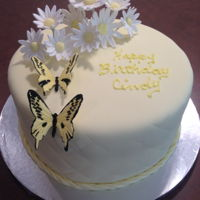 Butterfly Birthday Cake First time with Mexican paste butterflies