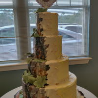 Camo Wedding Cake My first four tiered cake.