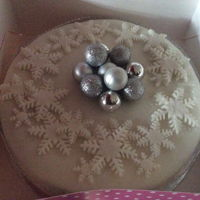 Christmas Cake 2015 Snowflake and baubles