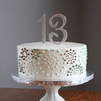 Dotted Swirl Cake My daughter's birthday cake this year.