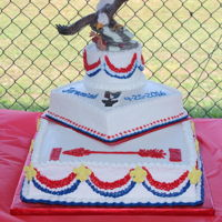 Eagle Scout Ceremony  This cake was picked out by the young man becoming an Eagle Scout. He had a picture and wanted his cake the same. The family provided an...