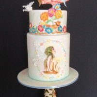 Fairy Cake   Another cake following an amazing class with Kelvin Chua.Various types of piping and hand painting