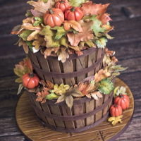 Fall Basket Cake Its not officially fall, but with the end of summer approacing it time to get in the mode! This cake is inspired by this glorious season....