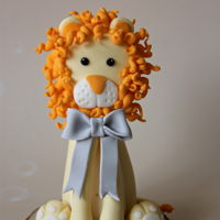 Fondant Lion Baby Shower Cake Topper Fondant Lion baby shower cake topper