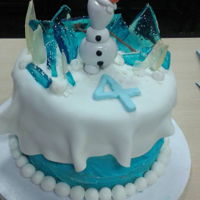 Frozen Olaf Cake This was one of my favorite cakes and very easy to make! The broken sugar glass made the whole thing look truly FROZEN. Just draping my...