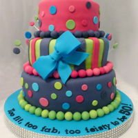 Funky And Fabulous At 50! Funky at 50 3 tier birthday cake