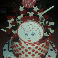I Love Lucy Cake Buttercream cake with fondant and edible image accents