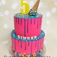Kimber's 5Th   Drippy cake