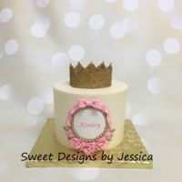 Kinley's Smash   Princess themed 1st birthday smash cake