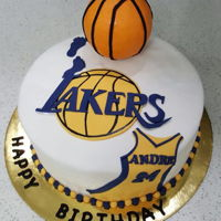 Lakers Cake Cake for a Lakers fan. Really enjoyed making this