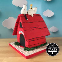 Meet Snoopy - My Birthday Cake That I Made For Myself snoopy chilling on his doghouse