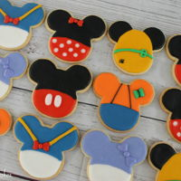 Mickey Mouse Clubhouse Sugar Cookies   Mickey shaped cookies all decorated with the Clubhouse characters!