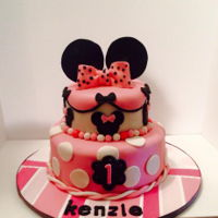 Minnie Mouse First Birthday Pink Minnie Mouse first birthday cake for a very special little girl :)