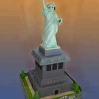 "New York 40Th Birthday Cake A gum paste Statue of Liberty for a local dj who loves New York city, sitting on a ""plinth"" made of citrus mud cake and salted..."