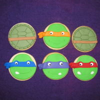 Ninja Turtle Cookies   NFSC cookies with fondant.