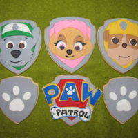 Paw Patrol Cookies   Sugar Cookies with fondant