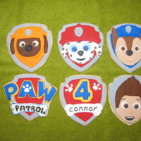 Paw Patrol Cookies NFSC with fondant