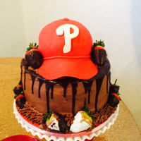 Phillie's Groom's Cake This is a groom's cake I did for my brother's best friend. Prior to his own wedding, this groom had never even heard of a groom&#...