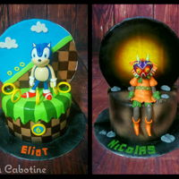 "Sonic & Majora Mask 7"" cake, 2 video game.Majora Mask (Zelda) and Sonic"